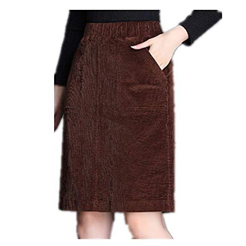 N\P Pana Lápiz Falda De Gran Tamaño Femenino Suelto Falda Cintura Elástica Casual Fondo Retro Color Salvaje De Las Mujeres Bolsa De Falda