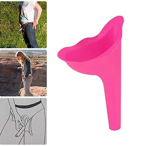 XYZA Dispositivo Portatile per Urina da Campeggio Dispositivo per Urina Orinatoio da Viaggio Femminile Minzione da Viaggio Toilette da Donna Stand Up & Pee Morbida Minzione in Silicone Morbido,Rosa