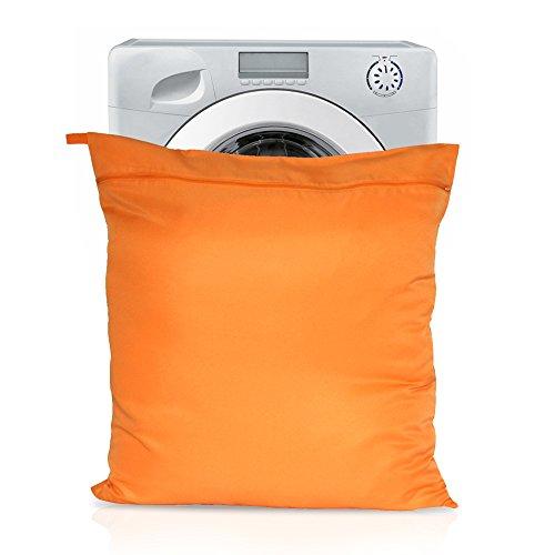 Sac de toilette pour cheval, filtre les poils de cheval et protège les machines à laver, taille Jumbo Orange