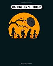 Halloween Notebook: star wars trick treat halloween silhouette gift College Ruled - 50 sheets, 100 pages - 8 x 10 inches