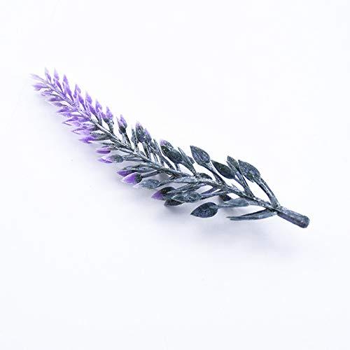QWERTYU LIFUQIANGME 10pcs Lavendel Kunststoff Blume DIY Hochzeit Geschenkkasten Weihnachtsschmuck for zu Hause Weihnachtsgirlande künstliche Pflanzen billig (Color : Lavender)