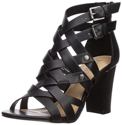 Price comparison product image XOXO Women's Briannah Heeled Sandal,  Black,  6 M US