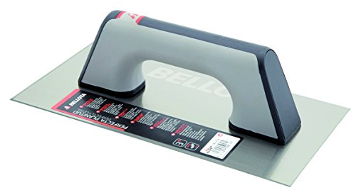 Bellota 5861-1 BIM INOX - Llana recta de acero inoxidable (300x150mm) con mango bimaterial