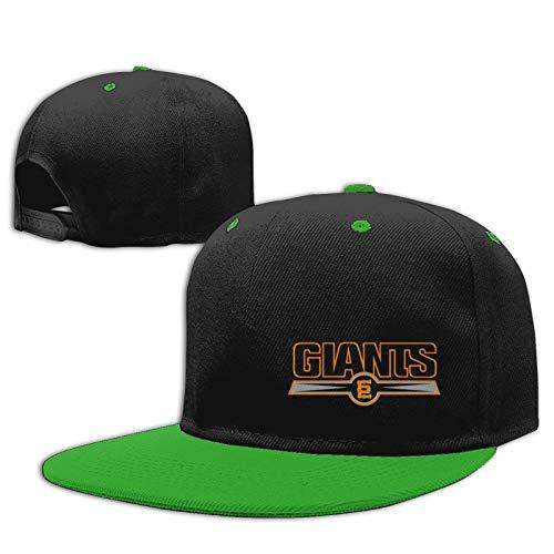 Jiso-Bag コントラスト ヒップホップ ベースボール キャップ 東京ジャイアンツ野球 Green 帽子 野球帽 平つば 硬つば 長つば スナップボタン メンズ