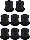 Summer UV Protection Neck Gaiter Scarf Balaclava Breathable Face Cover Scarf (8, Ice Silk) Black