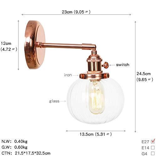 Nordic Japanse wandlamp slaapkamer badkamerspiegel lamp roodgoud ijzer metaal glazen bol LED wandlamp wandlamp kandelaar