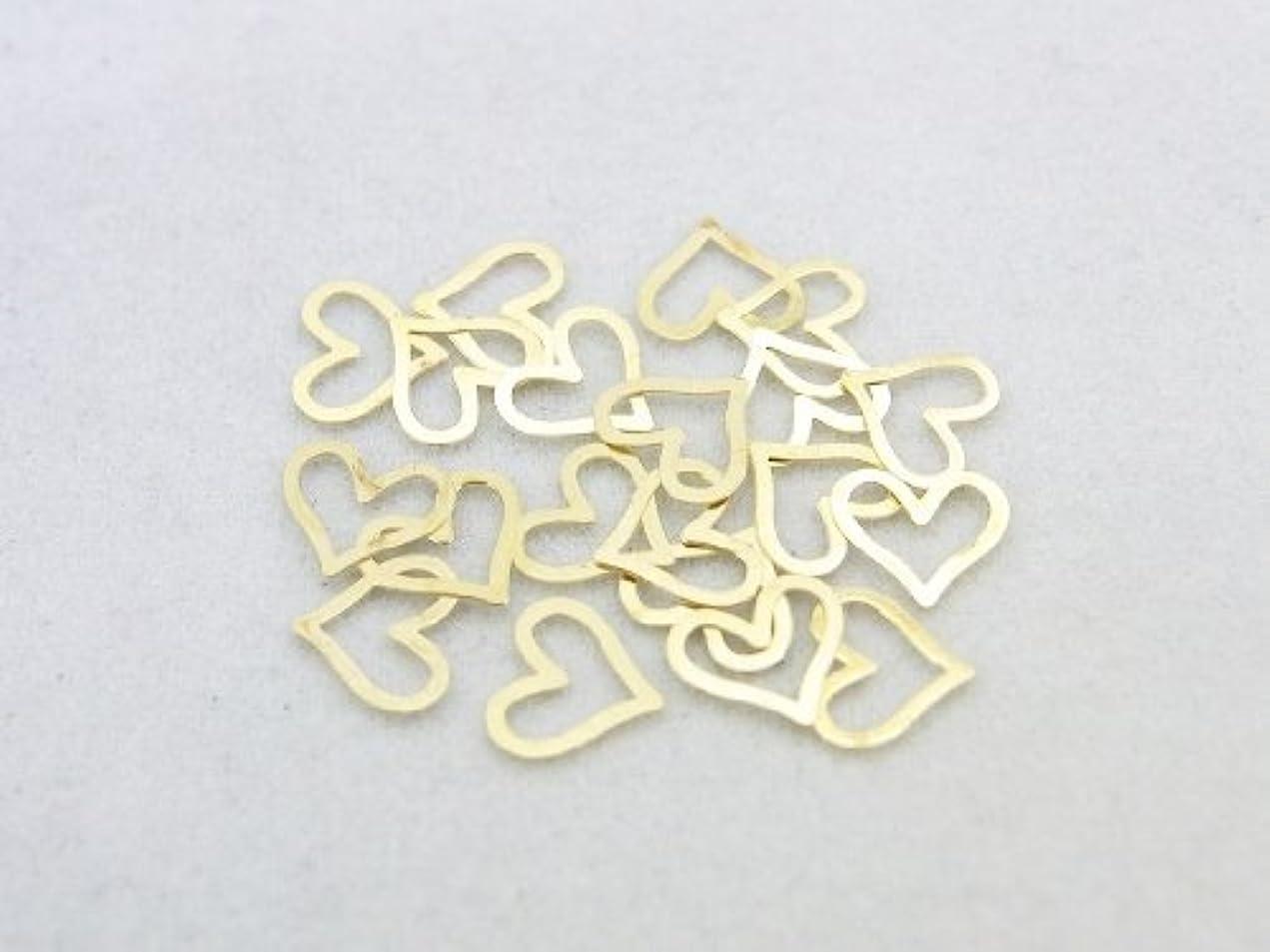 自由スカリー正確な紗や工房 メタルアートパーツ メタリックパーツ ハート大 ゴールド 20枚