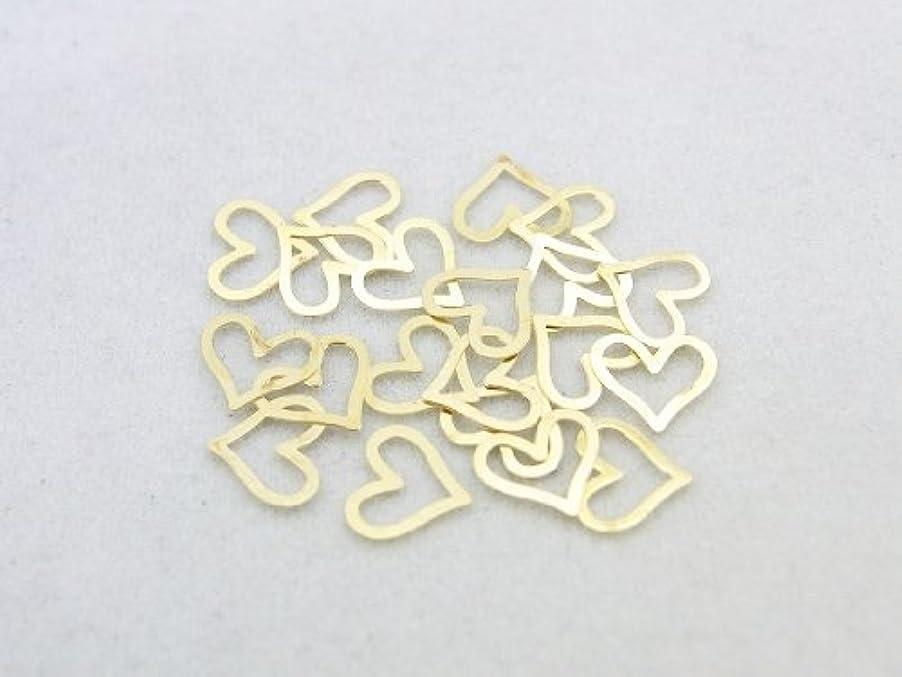 アッティカス仲良し瞑想する紗や工房 メタルアートパーツ メタリックパーツ ハート大 ゴールド 20枚