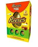 Reese Huevo de Pascua Colección – Huevo de Pascua de chocolate con leche grande de Reese con 3 huevos de crema de mantequilla de maní (232 g de huevo de concha)