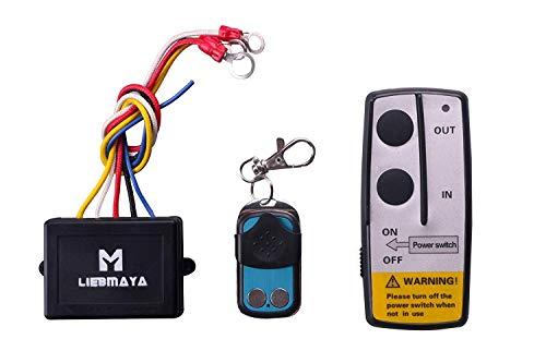 LIEBMAYA Kabellose Seilwinde Fernbedienung für LKW, Jeep, ATV, SUV, 12 V Schalter Handset