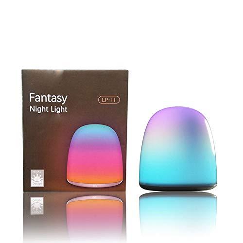Luz de noche pequeña detección táctil creativa 7 modos de iluminación lámpara de escritorio led para el hogar luz de ambiente RGB