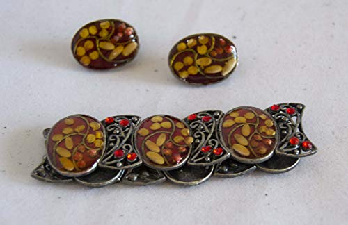 Juego de pendientes y pulsera en colores surtidos. Envío GRATIS 72h (Granate)