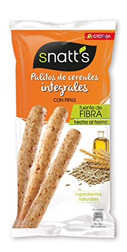 Grefusa - Snatt's | Palitos de Trigo Integrales con Pipas - 55...