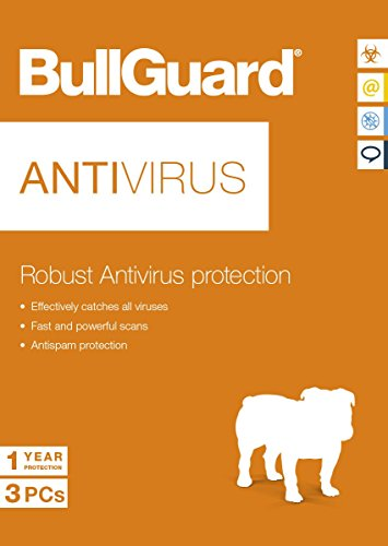 BullGuard Antivirus Software 3 Dispositivos - 1 Año - De Seguridad Sólido y Completo Defensa Inquebrantable y Rendimiento Pleno Del Sistema