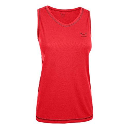 Salewa Aresa 2.0 Dry w Tank – Top sous-vêtement Thermique pour Femme XXXL Rouge