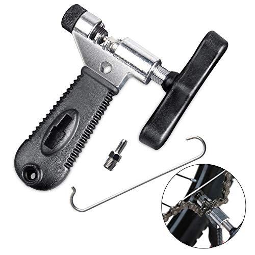 Qkurt Fahrradketten Nieten + Armband für Fahrrad Ketten + 6 Paare Fahrrad Fehlt Link, Fahrradkette zange Fahrradkette Nietwerkzeug Set für 6/7/8/9/10 Fach Ketten Reparieren - 2