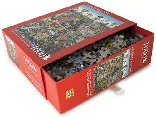 Vuelta de 10 dias CHARLES FAZZINO FAZZINO FAZZINO Art Manhattan Will Make You Feel Brand New 1000 Piece Jigsaw Puzzle by Fazzino Puzzle  100% precio garantizado