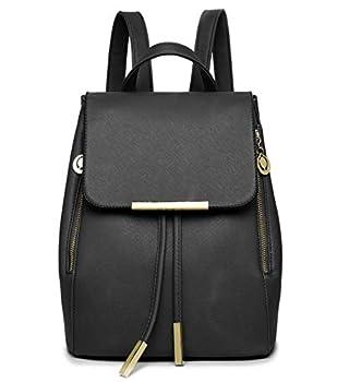 WINK KANGAROO Fashion Shoulder Bag Rucksack PU Leather Women Girls Ladies Backpack Travel bag  small black