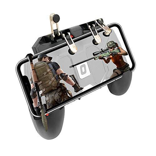 Mobile Game Controller Smartphone Gamepad vereinfachter Tragbarer 4 Trigger L1R1 Universel für Android iOS iPhone Samsung Huawei Smartphone mit Breite von 7 bis 9,5 cm