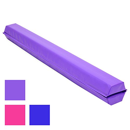 Best Choice Products 9ft Folding Medium-Density Foam Floor Balance Beam for Gymnastic and Tumbling, Purple