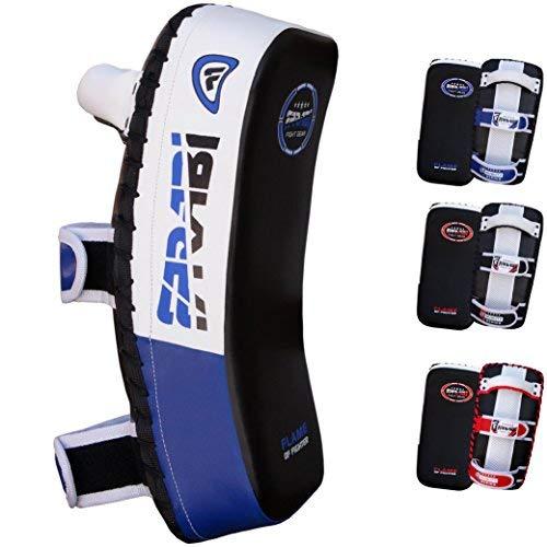 Farabi Thai Pad Kick Shield MMA Kickboxing Muay Thai Training Pad Arm Pad Strike Shield(Single Unit) (Blue/Black)