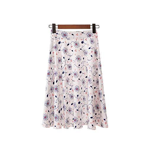 U/A Falda Falda Corta para Mujer Falda de Media Longitud Falda Plisada con Estampado Digital Falda