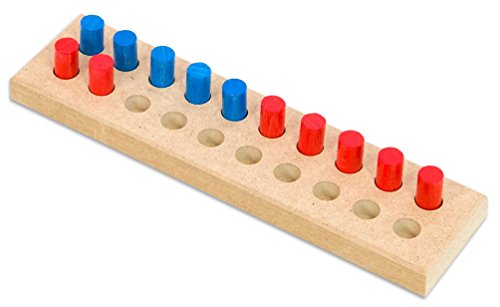 Betzold Zwanziger-Steckbrett (klein) für den Zahlenraum bis 20 - Mathematik Rechnen Lernen Grundschule Kinder