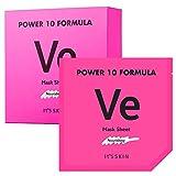 It'S SKIN Power 10 Formula VE Mask Sheet Set 10 Sheets - Skin Nourishing & Moisturizing Facial Mask Sheet, Radiance, Healthier Looking Skin for Dull and Dry Skin