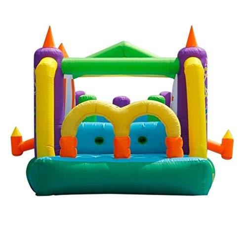 Aufblasbares Schloss Hüpfburgen Outdoor-Hüpfburg Großes Indoor-Kindertrampolin Kinder Family Fun Schloß Mit Slide (Color : Green, Size : 560 * 325 * 220cm)