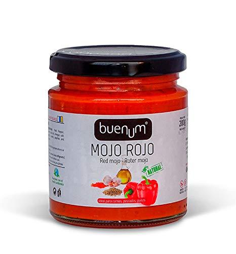 Rotes Mojo-Sauce mild BUENUM 200 gr. Kanarische Produkte