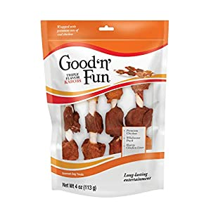 Good'n'Fun Triple Flavor Kabobs 4 Ounces, Snack for All Dogs