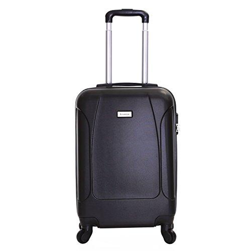 Slimbridge Alameda maleta trolley cabina ABS - Equipaje de mano rígida y ligera con 4 ruedas. Aprobado por la mayoría de las aerolíneas Ryanair, EasyJet, Wizzair, Vueling y muchos más, Negro