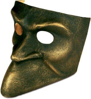 Karneval Venezianische Maske - Bauta bronzo