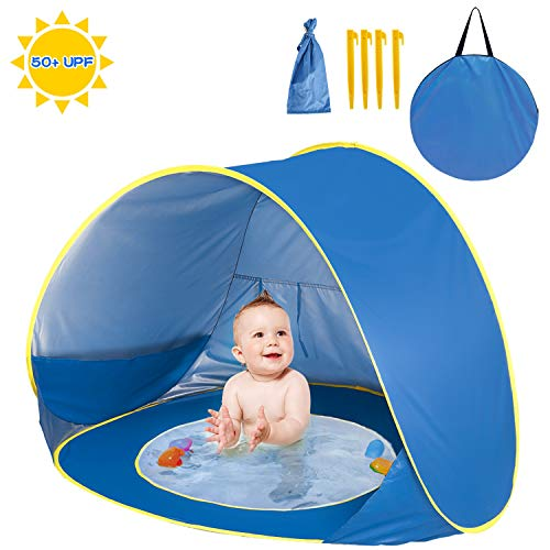 Shayson Pop Up Strandmuschel, Automatisches Strandzelt mit UV-Schutz 50+ für 1-2 Kinder, auch als Sonnenzelt oder EIN Sonnenschirm