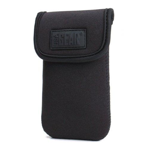USA GEAR Funda Neopreno Cámara fotos Compacta y Smartphones - Compatible con Sony Cyber-Shot Apple Iphone 6, 5s, 5, 4s / Bq Aquaris E6 , E5 , E4.5 / Samsung WB350F / Canon G7 X