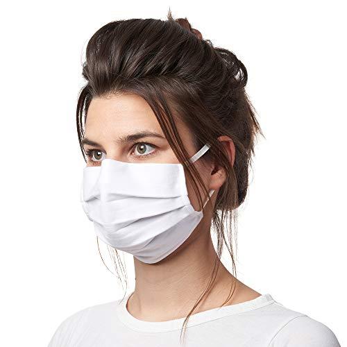 Bahidora Stoff Mund Nasen Maske, Gesichtsmaske aus 100% Baumwolle (weiß)