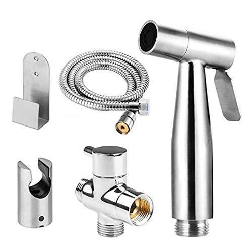 Bidet handdouche 304 roestvrij staal ABS wc mondstuk en de slang zonder automatische controle huisdier badkamer/toilet sanitair douche/schoonmaakbeurt universele