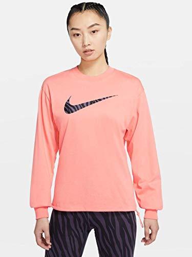 Nike Felpa da Donna Girocollo Icon Clash Rosa Taglia L cod DC5294-693