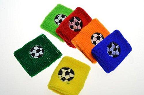 10 x Schweißband Fußball verschiedene Farben