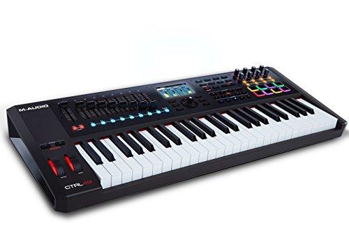 M-Audio CTRL49 Tastiera Controller Midi USB Professionale a 49 Tasti Semi Pesati con Aftertouch, Display a Colori ad Alta Risoluzione, Controlli Mackie/Hui e Pacchetto di Software