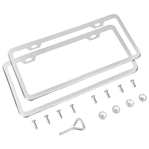 Weather-Proof LivTee Black Silicone License Plate Frame Universal American Auto License Plate Frame 2pcs Rattle-Proof Rust-Proof