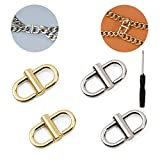 Screw Reinforcement!Adjustable Metal Buckles for Chain Strap Bag Shorten Your Bag Length Accessories-Need to be Fastened with Screwdriver(4 Pack)- Porpor Booya