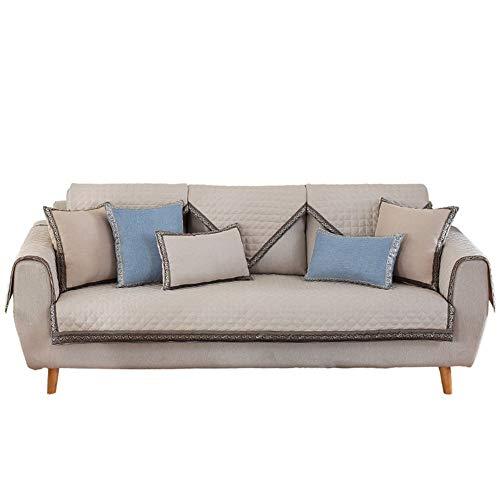 Katoen en linnen sectiegewijze sofa-covers 1 stuks set anti-slip sofa-sprei volledige kleur sofa-overtrek anti-fouling meubelbescherming voor hond (verkocht per stuks)