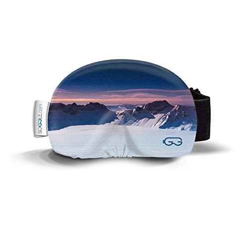 Soggle Skibrillen Schutz Überzug aus Mikrofaser (one Size), Farbe:Pictures 09 Mountains Sunset