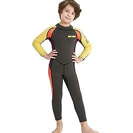 Dark Lightning Kids Wetsuit, 2mm Neoprene Thermal Swimsuit, Youth...