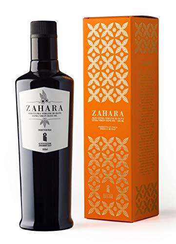 Zahara - Oleificio Guccione   Olio Extra Vergine di Oliva Premium - Estratto a freddo   Sicilia   500ml + Box