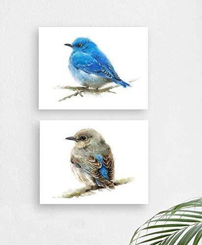 Limited time cheap sale Mountain 55% OFF Bluebirds Set of 2 Decor Dorm Prints Art