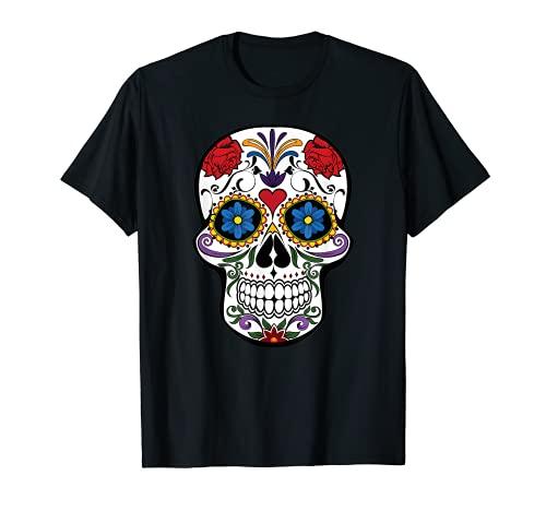 Tag der Toten Zucker Totenkopf Dia de los Muertos T-Shirt