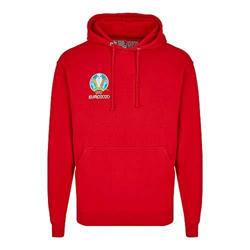 UEFA EURO 2020TM trui met capuchon Competition rood