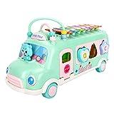 WOTEG Puzzle golpea a juguetes infantiles para autobuses de piano, bloques de construcción multifunción alrededor del juego de coche de juguete musical